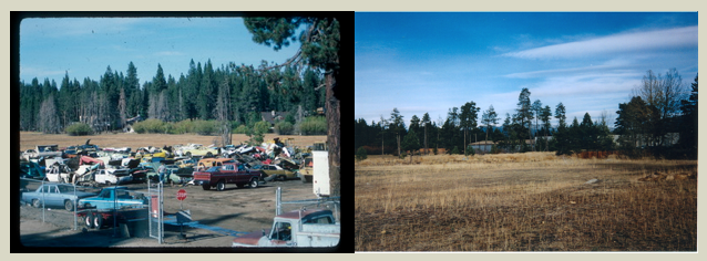 Auto wrecking yard before and after restoration