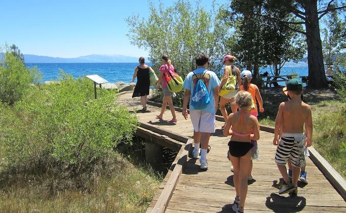 People visiting Lake Tahoe at Carnelian Bay