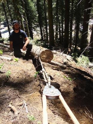 EagleRock-Hauling-logs-for-erosion-control-