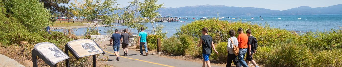 Shared use path along Lake Tahoe