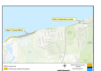 Map of Conservancy south shore lakefront properties